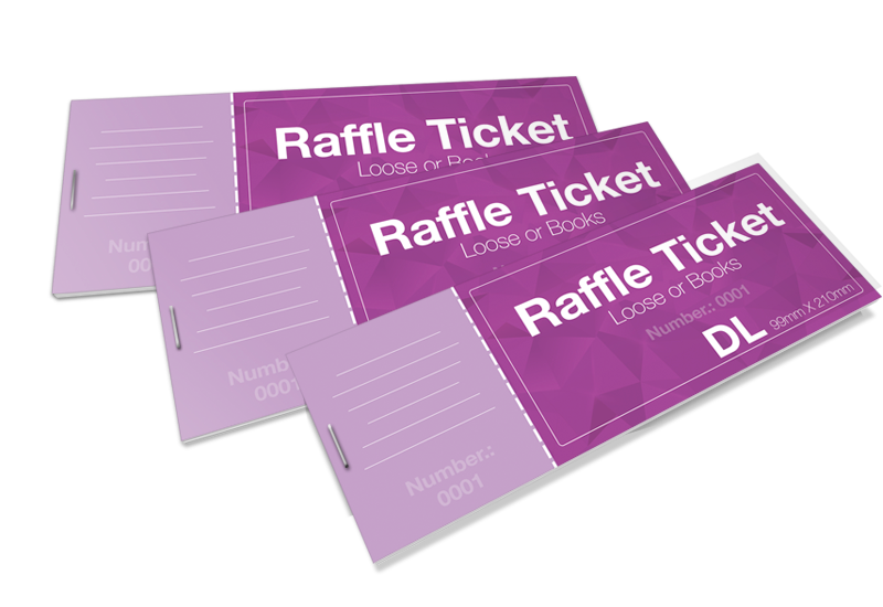 raffle draw tickets disc and print